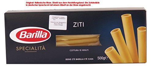 Barilla Specialità Ziti 10 x 500g = 5000g Makkaroni Teigwaren aus Hartweizengrieß.