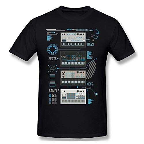 for Man Korg Volca Keys Series Basic Blue Music T Shirt Quality Print Rock and Roll Round Collar Tee Shirt