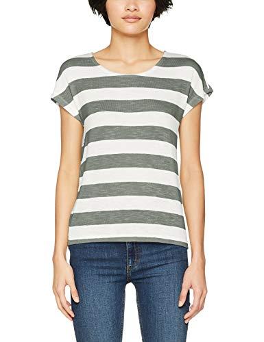 Vero Moda Vmwide Stripe S/l Top Noos Camiseta, Corona De Laurel, M para Mujer