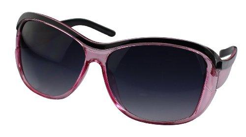 Alex Flittner Designs Nerd Sonnenbrille in schwarz/rosa