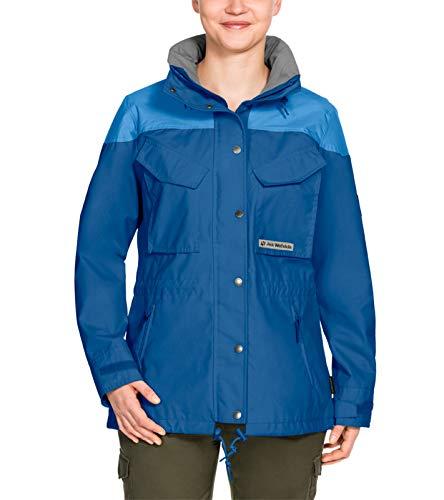 Jack Wolfskin Bronco Field-Jacket praktische Damen Funktions-Jacke Outdoor-Jacke Trekking-Jacke Blau, Größe:S