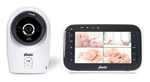 Alecto DVM-143 Funk Babyphone (100{90ef6b7f0280ef598a1d8421402b5be5b79c1ed2283dbbfeee5094d7700cd594} störungsfrei & privat), mit schwenkbarer video Kamera, Nachtsicht, Gegensprechfunktion, hohe Reichweite von bis zu 300 Meter, 11 cm. erweiterbar bis zu 4 Kameras