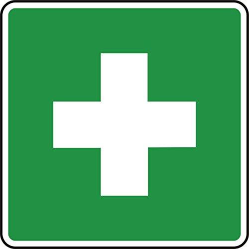 2X Erste Hilfe Aufkleber 10x10cm mit Schutzlaminat von Finest-Folia® Unfallschutz Verbandskasten R004