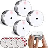 SITERLINK Smoke Alarm 10-Year Fire Detector Photoelectric Silence Function, Small Fire Alarm with Built-in 3V Battery for Home and Kids'room, UL Listed, GS521C-A, 4 Pack