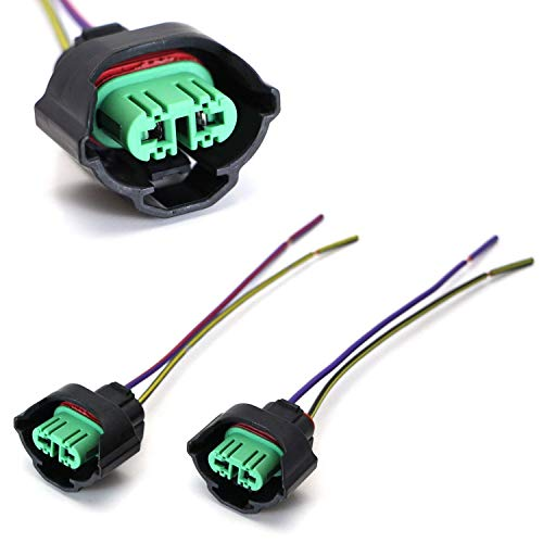 iJDMTOY (2) OEM H11 H8 Female Adapters Wiring Harness Sockets w/ 4-Inch Wire...