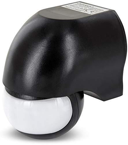 Aufputz Slim infrarrojos Detector de movimiento IP44180° 230V–con sensor de oscuridad–para zonas húmedas–Giratorio orientable (LED–adecuado a partir de 1W