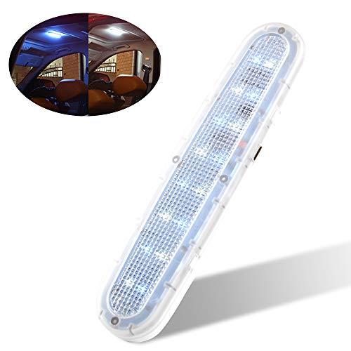 Luz interior de coche LED Luz de matrícula Luz trasera Luz de lectura de coche LED Luz de noche de 16 LED blanca y azul hielo Luz de puerta Luz de puerta Doble brillo Doble brillo Carga USB