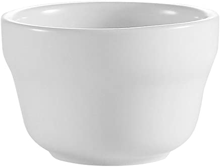 HUBERT Fruit Bowl 3 Ounce White with Rolled Edge Stoneware 36 per Case