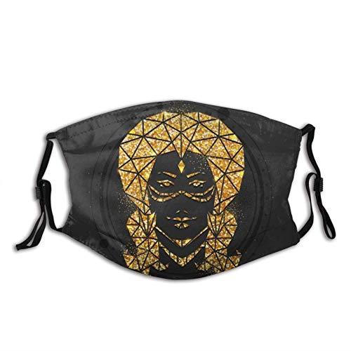 shenguang Zodiac Signs Zodiac Dust Waschbare Stoffgesichtsscarfe Face Balaclava Wiederverwendbare Outdoor-Mode für Unisex mit Filters-Magic Witchcraft Card mit Virgo Zodiac