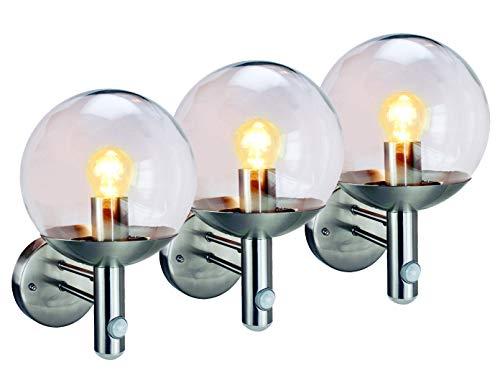 Set van 3 Elro RVS46LA buitenlampen met bewegingsmelder