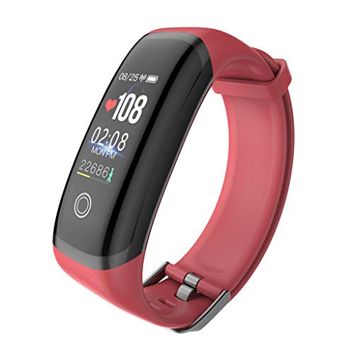 M4 - Reloj inteligente de pulsera de seguimiento de la frecuencia cardíaca, resistente al agua, reloj inteligente para niños Conjunto de bandas de fitness para mujer.