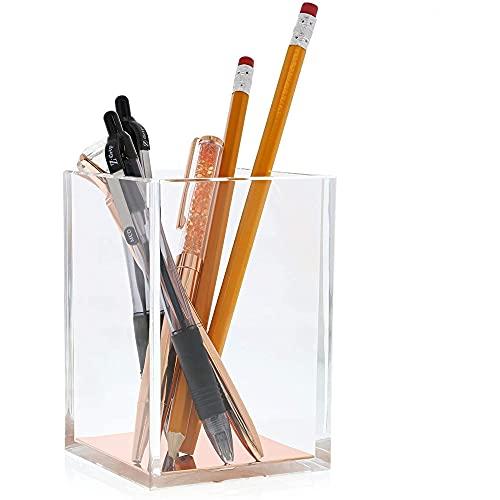 Juvale Acrylic Pen Holder, Crystal Clear Pencil Cup Desktop...