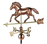 Good Directions Smithsonian Running Horse Weathervane, Pure Copper