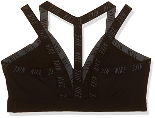 Nike Damen INDY Logo Bra Sports, Black/Cool Grey, XL