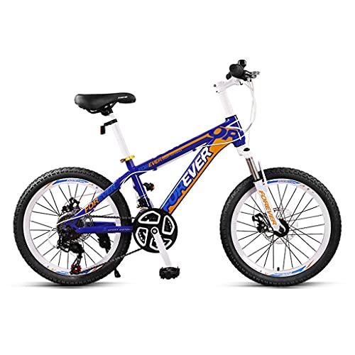 ZXQZ Bicicleta de Montaña para Niños, Bicicletas de Carretera de Velocidad Variable de 20 Pulgadas con Horquilla Delantera Amortiguadora, para Niños, Niñas, Estudiantes de Secundaria Y Adolescentes