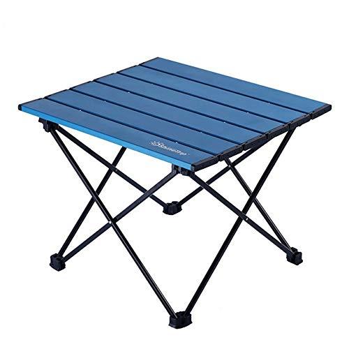 MoonyLI Leichter tragbarer Campingtisch,Kompakter Klapptisch aus Vollaluminium,für Picknick, Camping, Strand,Trekking,nützlich zum Essen, Schneiden, Kochen