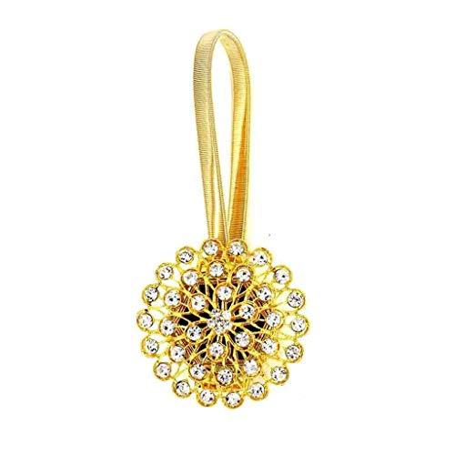 JJZXD 2 unids Hebilla de Diamantes de imitación práctica Ventana Cortina Hebilla magnética Dulce Creativo Moda Ventana decoración Escena clásico diseño (Color : A)