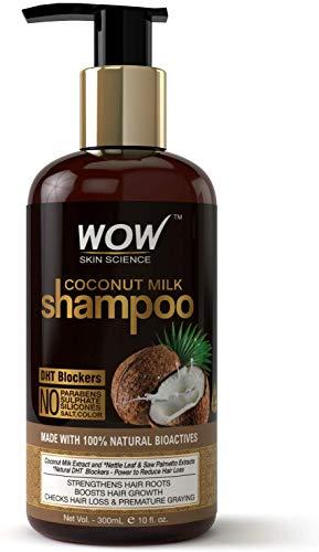 Glamorous Hub WOW Champú con leche de coco sin parabenos, sulfato de silicona, sal y color, 300 ml (el embalaje puede variar)