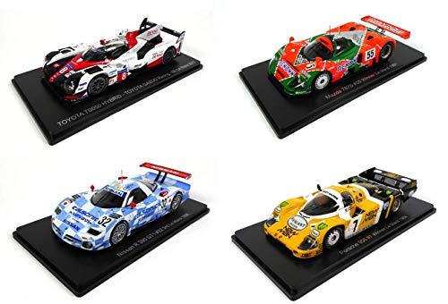 - Lotto di 4 Auto Le Mans Spark 1/43 per Hachette Japon: Toyota TS050 2017 + Mazda 787B 1991 + Porsche 956 1984 + Nissan R390 1998 (01 + 02 + 03 + 05)