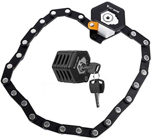Popular standard Bike Chain A surprise price is realized Locks with 3 Keys Bic Theft Heavy Anti Duty Foldable