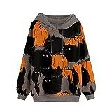 NAQUSHA Sudadera con capucha para mujer, con bolsillos, otoño, invierno, informal, con capucha y cordón, estilo vintage, caqui, M