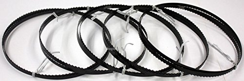 5 x flexibles Werkzeugstahl Sägeband 1400 x 6 x 0,36 mm x 6 Zähne pro Zoll, für Holz, Hartholz, Brennholz, Sperrholz, Quer- und Schweifschnitte, empfohlene Bandstärke, für Materialstärke ab 15 mm