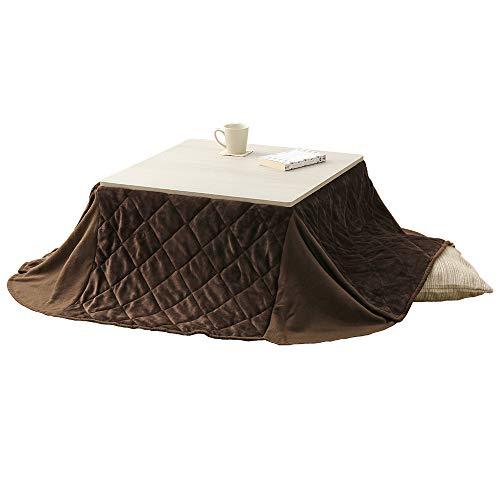 アイリスプラザ こたつ 2点セット テーブル + 掛け布団 正方形 68cm×68cm 天板リバーシブル 折り畳み可能 ホワイト