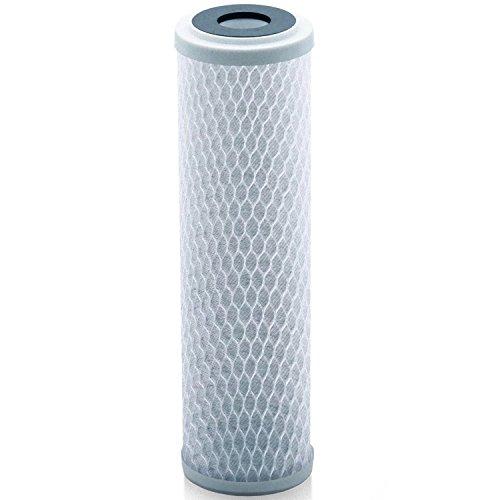Universal 25,4cm Carbon Block Wasserfilter Kartusche–Ersatz CTO Wasser Luftreiniger Filter, Aktivkohle (NSF 42zertifiziert) weiß