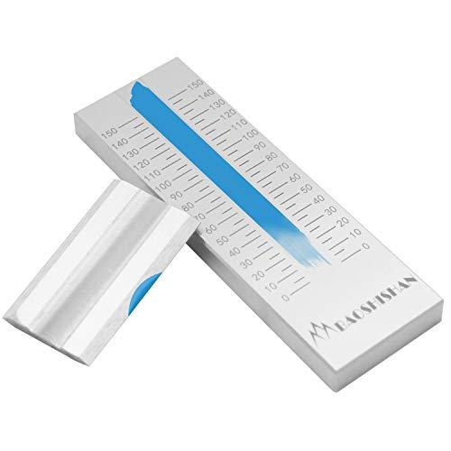 BAOSHISHAN 0-150um Grindómetro de acero inoxidable Medidor de finura estándar ISO Ranura única con 2 raspadores 25um 50um 100um 150um Disponible (0-150μm)