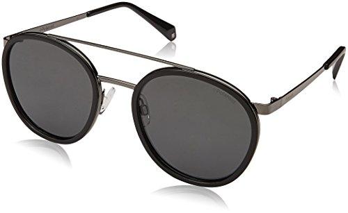 Polaroid Sunglasses Unisex-Adult Pld6032s Polarized Oval Sunglasses, BLACK, 53 mm