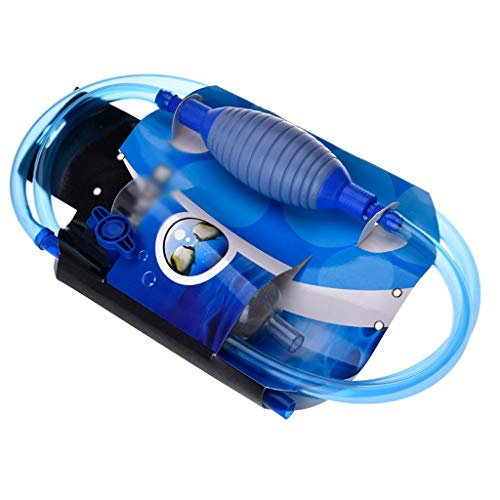 MC.PIG Filterreinigung - Aquarium-Vakuum-Siphonpumpe Mit Durchflussregelhahn - Aquarium-Abfluss Kiesreiniger Wasserfilter-Siphonschlauch
