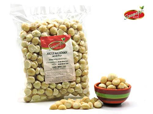 Noci Di Macadamia al Naturale - Pacchetto Speciale 2x500g - Originali dall' AUSTRALIA - sgusciate - PRIMA Categoria - Premium - SORRENTINO Fruttaseccaesalute