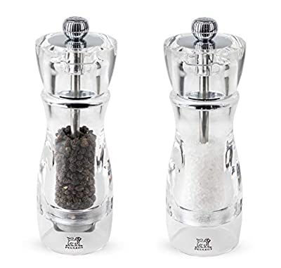 Peugeot Vittel Acrylic Duo Salt and Pepper Mill, 16cm from Chomette