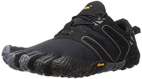 Vibram FiveFingers V-Trail, Zapatillas de Running para Asfalto Mujer, Negro (Black/Grey Black/Grey), 37/40 EU