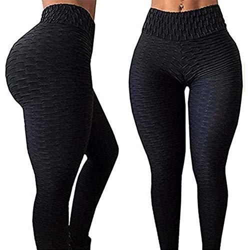 Nicejoy Leggins Leggings Yoga Deporte Femmeswomen De Cintura Alta Elevación del Extremo De La Panza De Control Elástico Sports Gym Pantalones XL
