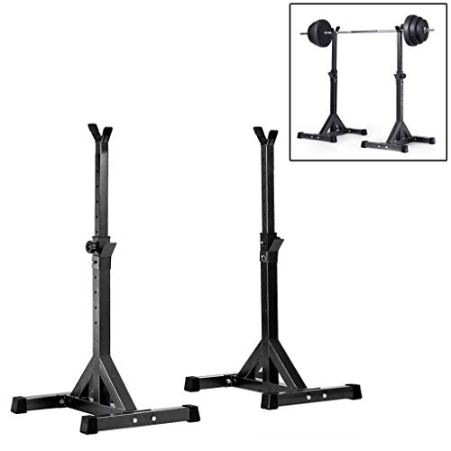 Amazing Deal JNBJNB Adjustable Squat Rack Stands Barbell Bench Press Home Gym Dumbbell Racks