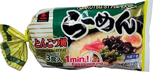 MIYAKOICHI 3 raciones de 206 g de fideos Ramen precocidos Tonkatsu 2015 ml