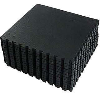 VLFit Esterilla Puzzle de Fitness – 18 losas de Goma Espuma + Bordes   Protección para el Suelo   para máquinas de Deporte y gimnasios sobre el Piso   Fácil de Limpiar