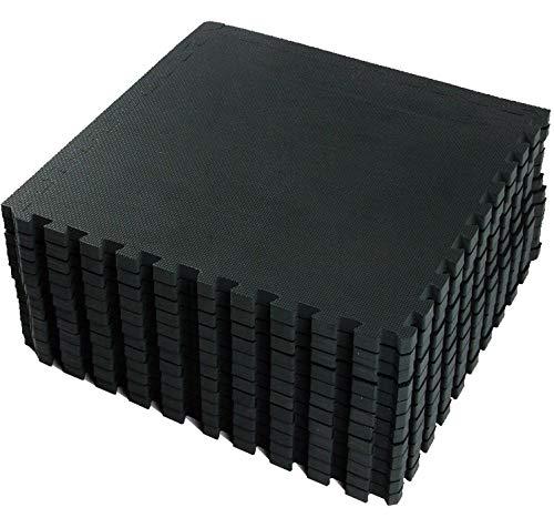 VLFit Tappeto da Fitness a Puzzle – Set di 18 Pezzi | Superficie di Protezione per Pavimenti | materassino per Palestra, Workout, Ginnastica, Efficace Contro i liquidi e Urti