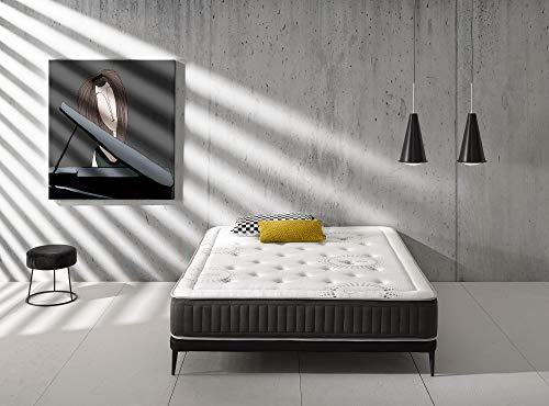 Kamasof - Matratze Visco Premium Platinum - 160 x 190 - Höhe 28 cm - Stretch-Gewebe...
