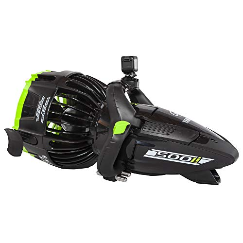 Yamaha YME22500 Professional and Recreational Dive 500Li Underwater Seascooter Diving Equipment, Black with Lime Green Accents