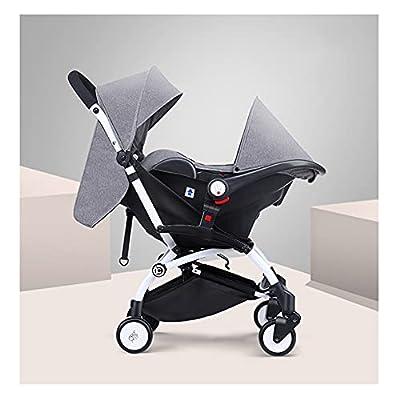 VIVIANSHOP Carrera portátil del Coche del Asiento del niño del automóvil del transportista para bebé para el Coche del bebé recién Nacido Grey