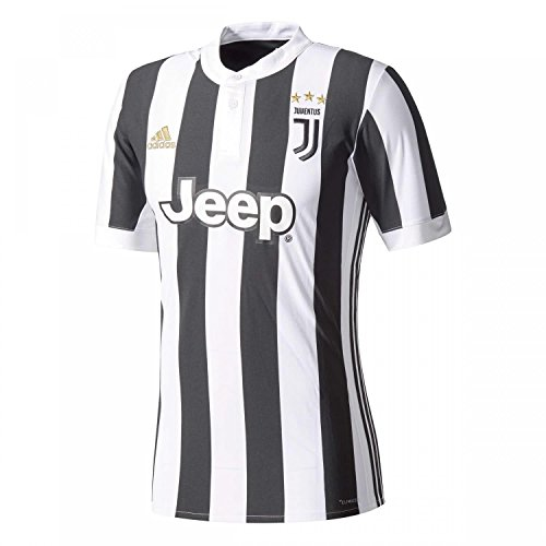 adidas Juve H JSY Camiseta 1ª Equipación Juventus 2017-2018, Hombre, Blanco/Negro, XL
