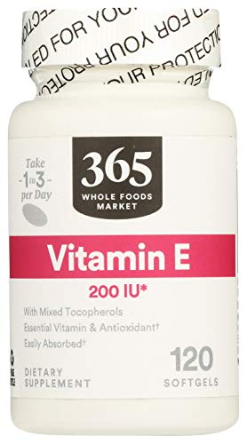 365 by Whole Foods Market, Supplements - Vitamins, E - 200 IU (Softgels), 120 Count
