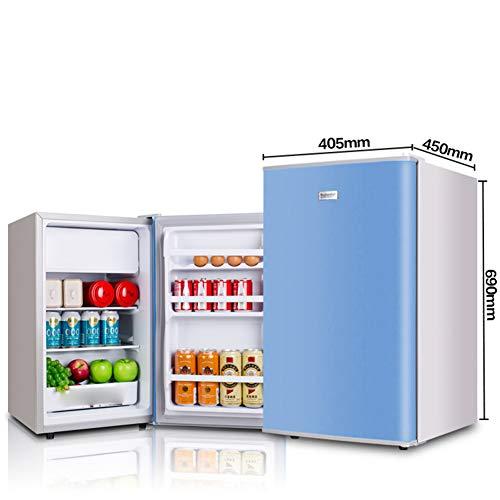 Fridge Mini Small Frozen Household Refrigerator Compact Fridgegreat For Bedroom, Office, Dorm - Single Door Refrigerator Household Refrigerator-Freezer Energy-Saving Fresh-Keeping(98L-blue)