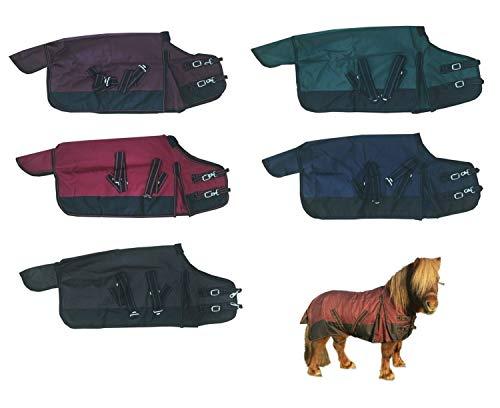 NETPROSHOP paarden outdoor regendeken ongevoerd voor de kleintjes, 115, wijnrood