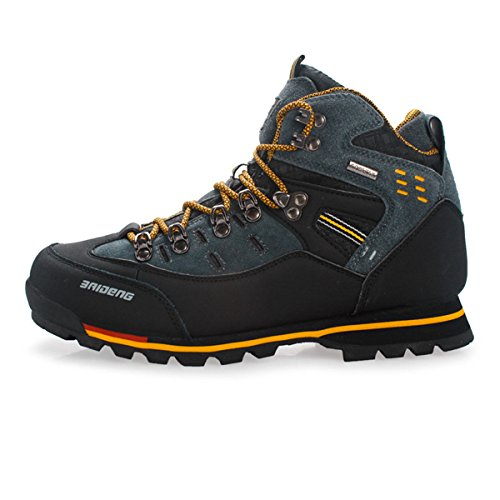 SANANG Pelle Esterna Impermeabile Hiking Boots Autunno Uomini Sport Invernali Trekking Alpinismo Stivali (40 EU, Giallo)