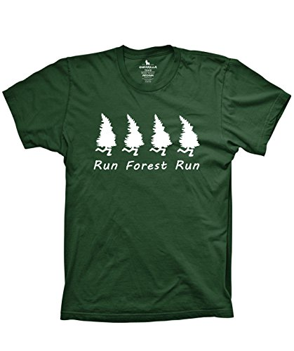 Guerrilla Tees Run Forest Run Shirt Funny Trees Running in The Woods Shirt, Small