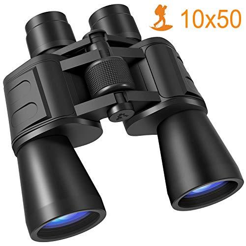 professionnel comparateur Jumelles puissantes pour adultes, jumelles compactes 10 × 50 HD avec objectif BAK4 Prism FMC… choix