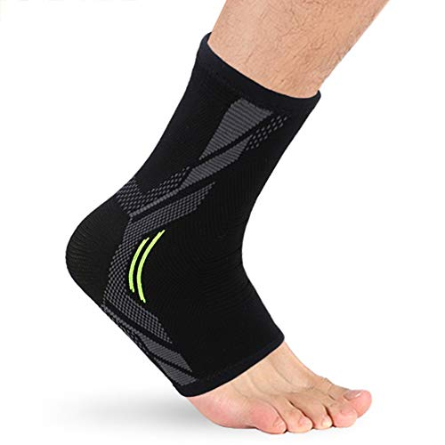 Lfhing Sport Ankle Pad Breathable Elastic Foot Warp Brace Support Pad for Badminton Basketball